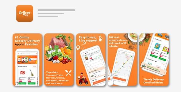 grocery app store screenshots
