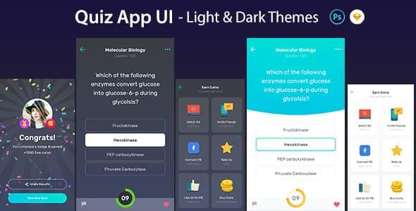 quiz app ui design