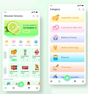 search and item catalog of grocery apps